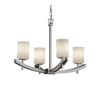 Justice Design Archway 4 Light Chandelier in Brushed Nickel FSN-8590-10-OPAL-NCKL