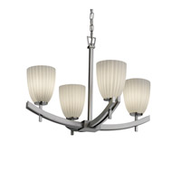 Justice Design Archway 4 Light Chandelier in Brushed Nickel FSN-8590-18-RBON-NCKL