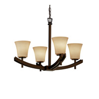 Justice Design Archway 4 Light Chandelier in Dark Bronze FSN-8590-20-ALMD-DBRZ