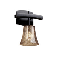 Justice Design Fusion Archway 1-Light Wall Sconce in Matte Black FSN-8591-20-MROR-MBLK