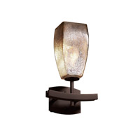Justice Design FSN-8591-65-MROR-DBRZ Fusion 1 Light 9 inch Dark Bronze Wall Sconce Wall Light in Fluorescent, Mercury Glass, Tall Tapered Square photo thumbnail