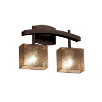Fusion LED 16 inch Dark Bronze Vanity Light Wall Light in 1400 Lm 2 Light LED, Mercury Glass, Rectangle