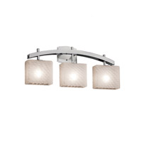 Fusion LED 26 inch Brushed Nickel Vanity Light Wall Light in 2100 Lm 3 Light LED, Weave, Rectangle