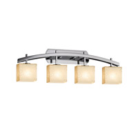 Fusion LED 36 inch Polished Chrome Vanity Light Wall Light in 2800 Lm 4 Light LED, Droplet, Rectangle