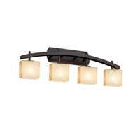 Fusion LED 36 inch Dark Bronze Vanity Light Wall Light in 2800 Lm 4 Light LED, Droplet, Rectangle