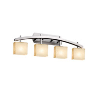 Fusion LED 36 inch Brushed Nickel Vanity Light Wall Light in 2800 Lm 4 Light LED, Droplet, Rectangle