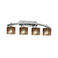 Fusion LED 36 inch Polished Chrome Vanity Light Wall Light in 10.75, Mercury Glass, 2800 Lm 4 Light LED, 35.5, Rectangle