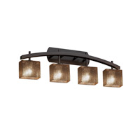 Fusion LED 36 inch Dark Bronze Vanity Light Wall Light in Rectangle, Mercury Glass, 2800 Lm 4 Light LED