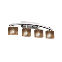 Fusion LED 36 inch Brushed Nickel Vanity Light Wall Light in 2800 Lm 4 Light LED, Mercury Glass, Rectangle