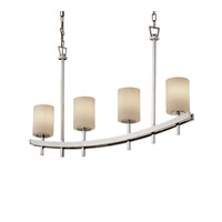 Justice Design Archway 4 Light Chandelier in Polished Chrome FSN-8595-10-OPAL-CROM