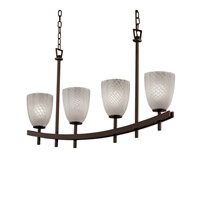 Justice Design Archway 4 Light Chandelier in Dark Bronze FSN-8595-18-WEVE-DBRZ