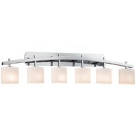 Archway 6 Light 57 inch Polished Chrome Vanity Light Wall Light in Oval, Opal, Incandescent