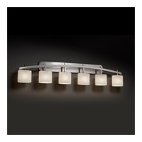 Justice Design FSN-8596-30-OPAL-NCKL Archway 6 Light 57 inch Brushed Nickel Vanity Light Wall Light in Opal, Oval, Incandescent FSN-8596-30-OPAL-NCKL_2.jpg thumb