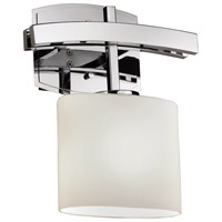 Justice Design Archway 1 Light Wall Sconce in Polished Chrome FSN-8597-30-OPAL-CROM