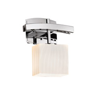 Justice Design Group Fusion LED Wall Sconce in Polished Chrome FSN-8597-55-RBON-CROM-LED1-700