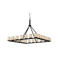 Justice Design Fusion Montana 24-Light Ring Chandelier in Dark Bronze FSN-8616-15-RBON-DBRZ photo thumbnail