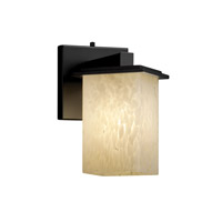 Justice Design Fusion Montana 1-Light Wall Sconce (Angled Bobeche) in Matte Black FSN-8661-15-DROP-MBLK