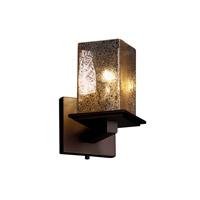 Justice Design Fusion Montana 1-Light Wall Sconce (Angled Bobeche) in Dark Bronze FSN-8661-15-MROR-DBRZ