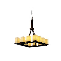 Justice Design Fusion Montana 12-Light Ring Chandelier (Tall) in Dark Bronze FSN-8663-15-DROP-DBRZ