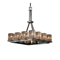 Justice Design Fusion Montana 12-Light Ring Chandelier (Tall) in Brushed Nickel FSN-8663-15-MROR-NCKL
