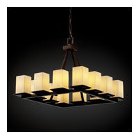 Justice Design FSN-8668-15-DROP-DBRZ Fusion 12 Light 29 inch Dark Bronze Chandelier Ceiling Light in Droplet photo thumbnail