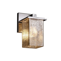 Fusion 1 Light 5 inch Polished Chrome Wall Sconce Wall Light in Mercury Glass