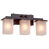 Justice Design FSN-8673-15-FRCR-MBLK-LED3-2100 Fusion LED 21 inch Matte Black Bath Bar Wall Light in 2100 Lm LED, Frosted Crackle
