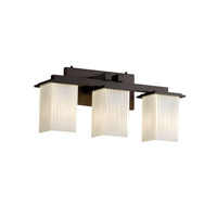 Justice Design Fusion Montana 3-Light Bath Bar in Dark Bronze FSN-8673-15-RBON-DBRZ