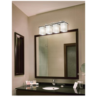 Justice Design FSN-8674-15-RBON-NCKL Fusion 4 Light 29 inch Brushed Nickel Bath Bar Wall Light in Ribbon Incandescent
