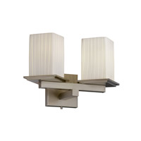 Justice Design Fusion Montana 2-Light Wall Sconce (Angled Bobeche) in Brushed Nickel FSN-8680-15-RBON-NCKL
