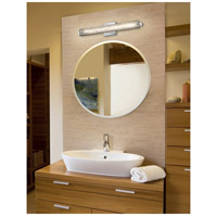Justice Design FSN-8681-DROP-CROM Fusion 23 inch Vanity Light Wall Light in Polished Chrome, Droplet