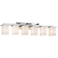 Fusion 6 Light 45 inch Polished Chrome Bath Bar Wall Light in Ribbon