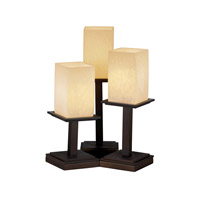 Justice Design Fusion Montana 3-Light Table Lamp in Dark Bronze FSN-8697-15-DROP-DBRZ