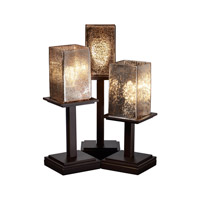 Justice Design FSN-8697-15-MROR-DBRZ Fusion 17 inch 100 watt Dark Bronze Table Lamp Portable Light in Mercury Glass photo thumbnail