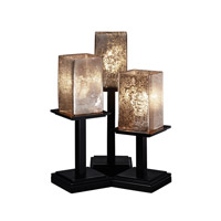 Justice Design FSN-8697-15-MROR-MBLK Fusion 17 inch 100 watt Matte Black Table Lamp Portable Light in Mercury Glass photo thumbnail