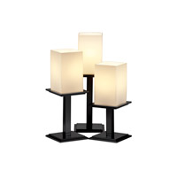 Justice Design Fusion Montana 3-Light Table Lamp in Matte Black FSN-8697-15-OPAL-MBLK