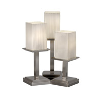 Justice Design Fusion Montana 3-Light Table Lamp in Brushed Nickel FSN-8697-15-RBON-NCKL