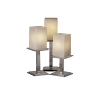 Justice Design Fusion Montana 3-Light Table Lamp in Brushed Nickel FSN-8697-15-WEVE-NCKL