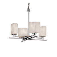 Justice Design Fusion Aero 4-Light Chandelier in Polished Chrome FSN-8700-30-RBON-CROM photo thumbnail