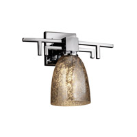 Justice Design Fusion Aero 1-Light Wall Sconce in Polished Chrome FSN-8701-18-MROR-CROM