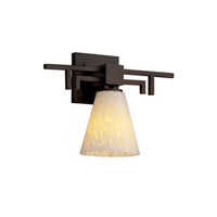 Justice Design Fusion Aero 1-Light Wall Sconce in Dark Bronze FSN-8701-50-DROP-DBRZ
