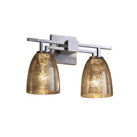 Fusion 2 Light 16 inch Brushed Nickel Bath Bar Wall Light in Fluorescent, Mercury Glass, Tapered Cylinder