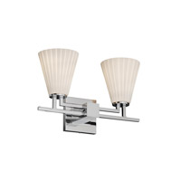 Justice Design Fusion Aero 2-Light Bath Bar in Polished Chrome FSN-8702-50-RBON-CROM