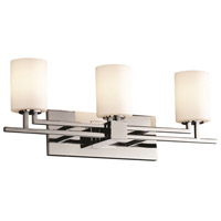 Justice Design Fusion Aero 3-Light Bath Bar in Polished Chrome FSN-8703-10-OPAL-CROM