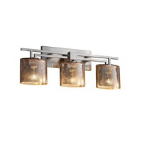 Justice Design Fusion Aero 3-Light Bath Bar in Brushed Nickel FSN-8703-30-MROR-NCKL