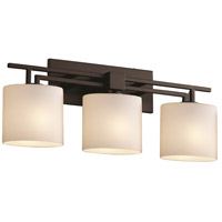 Justice Design Fusion Aero 3-Light Bath Bar in Dark Bronze FSN-8703-30-OPAL-DBRZ