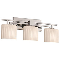 Justice Design Fusion Aero 3-Light Bath Bar in Polished Chrome FSN-8703-30-RBON-CROM