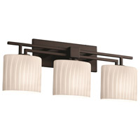 Justice Design Fusion Aero 3-Light Bath Bar in Dark Bronze FSN-8703-30-RBON-DBRZ