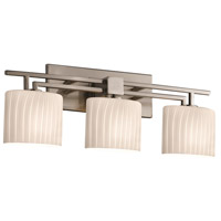 Justice Design Fusion Aero 3-Light Bath Bar in Brushed Nickel FSN-8703-30-RBON-NCKL