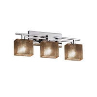 Fusion LED 26 inch Polished Chrome Vanity Light Wall Light in 2100 Lm 3 Light LED, Mercury Glass, Rectangle